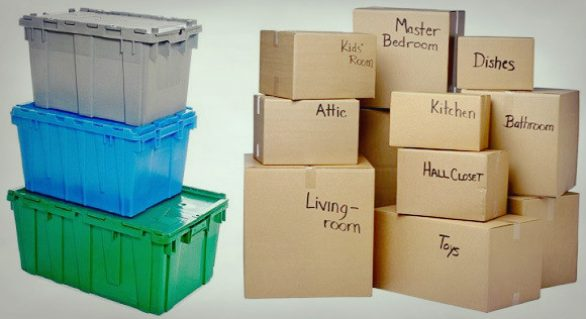 Packing Supplies: Cardboard vs. Plastic Boxes