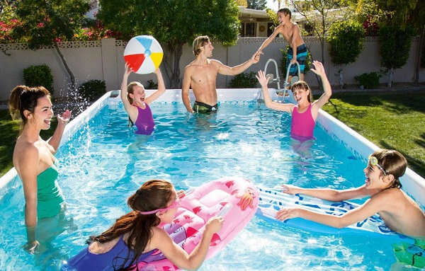Home Pool Vs The Beach Whats Safe And Fun For Kids To Splash In