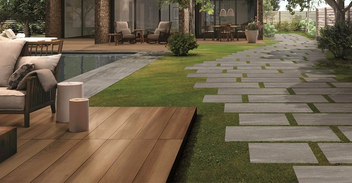 Outdoor Paving Dilemma Porcelain Or Natural Stone Tiles