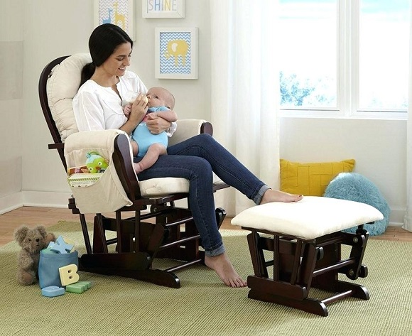 breastfeeding on rocking chair
