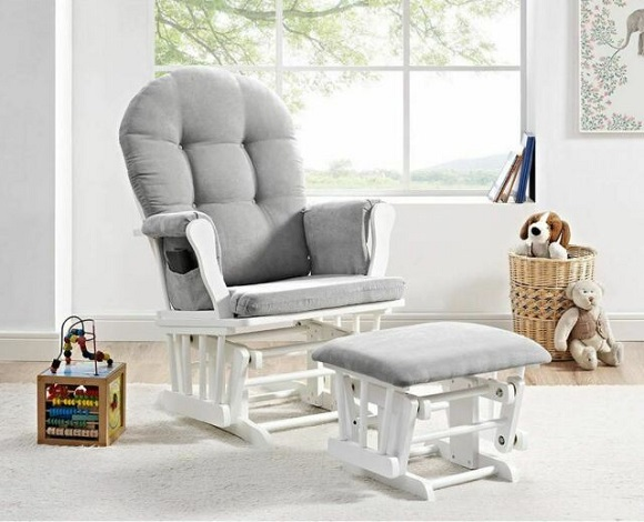 grey gliding chair