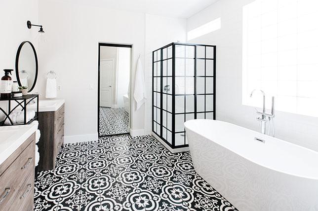 Stylish-Bathroom-ceramic tiles