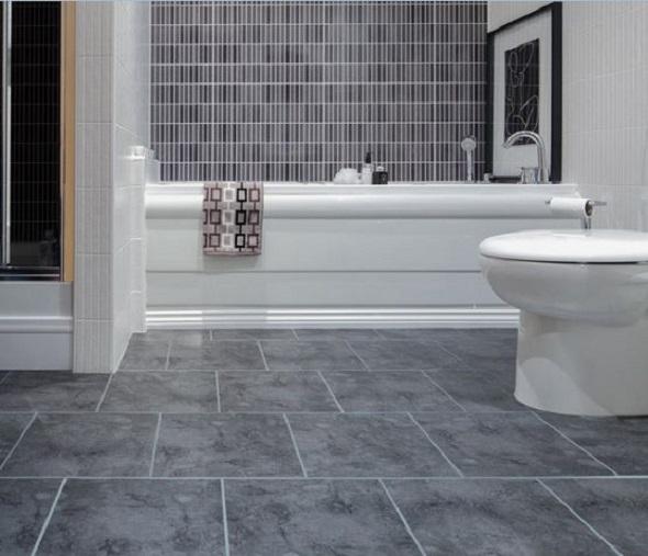 Vinyl flooring for bathrooms