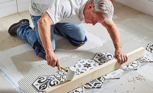 ceramic tiles installation