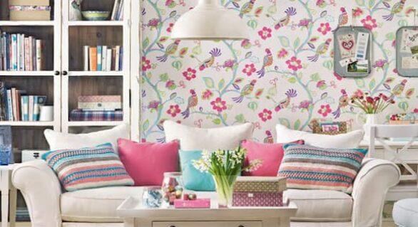 Shut the Door on Boring: Decorate Your Walls with Floral Wallpaper