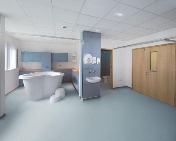 hospital bathroom flooring