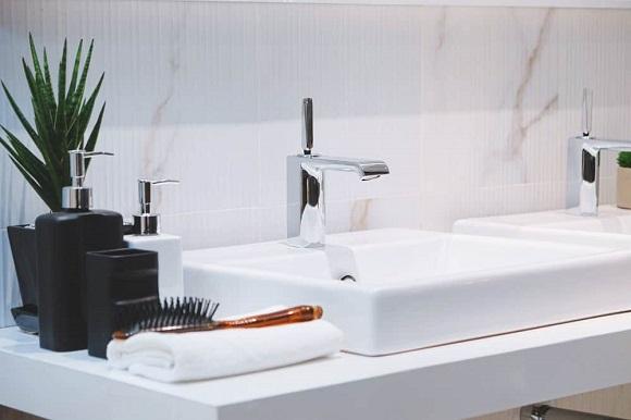 sink with bathroom essentials
