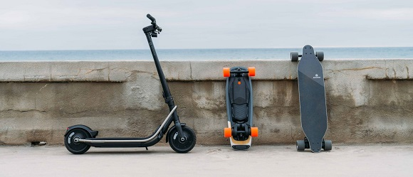 Scooter and skateboards